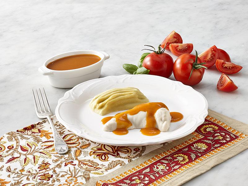 NOUVEAUTÉ    -    Poulet et haricots jaune avec sauce Cacciatore