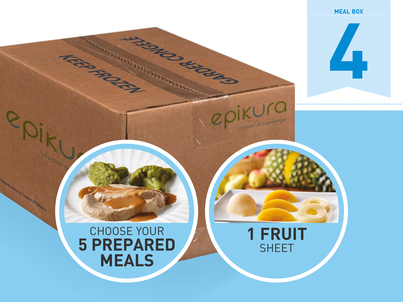 Boîte repas #4 - Promotion assiette et dôme gratuits