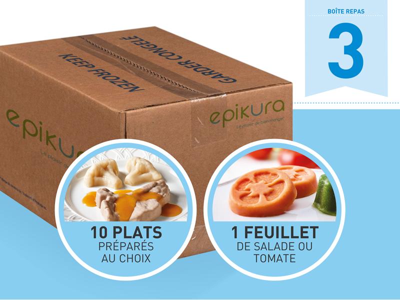 Boîte repas #3 - Promotion assiette et dôme gratuits