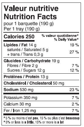 NOUVEAUTÉ - Saucisses et chou-fleur et sauce aromatisée à l'érable