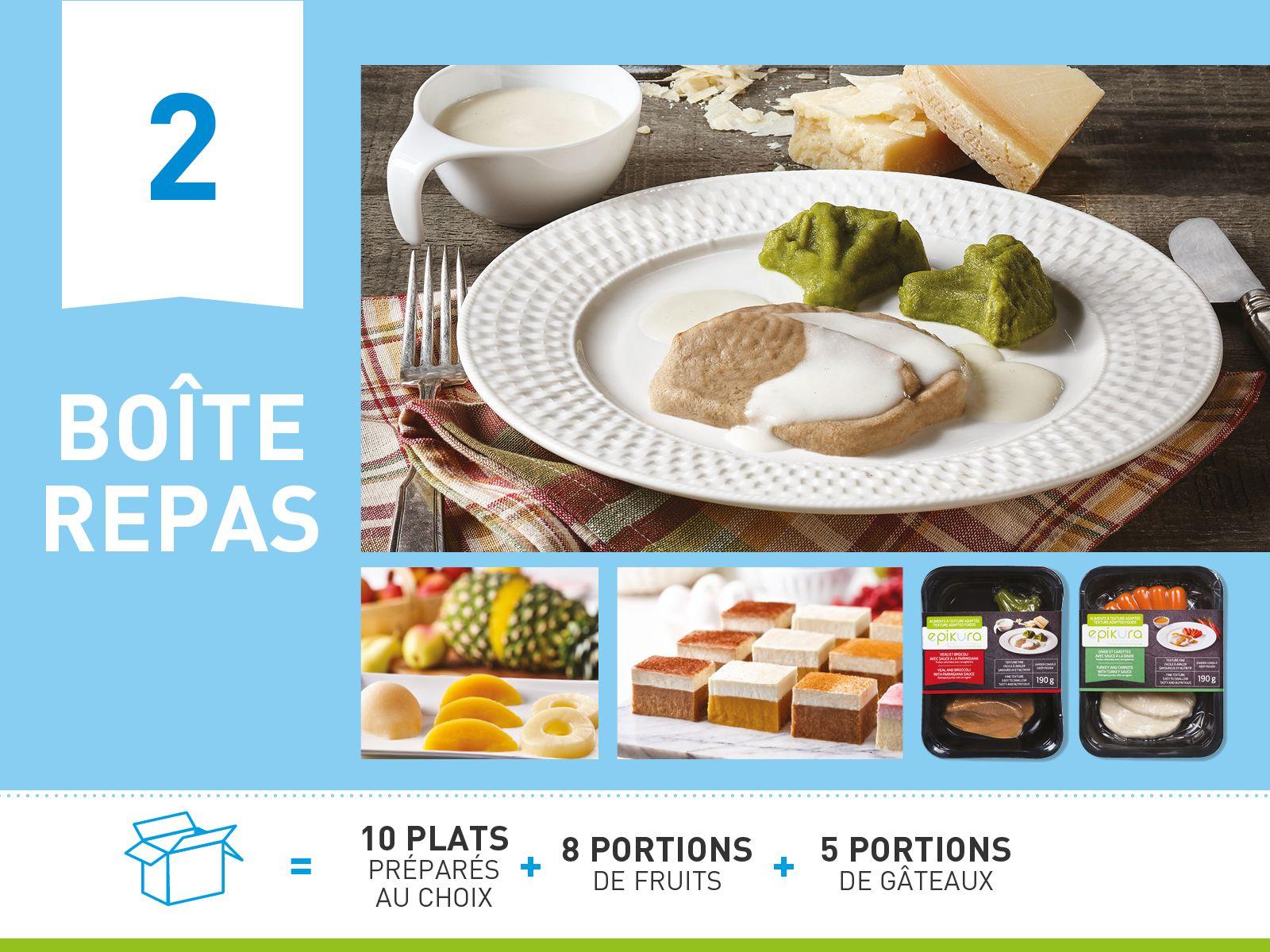 Boîte repas #2 - Promotion assiette et dôme gratuits