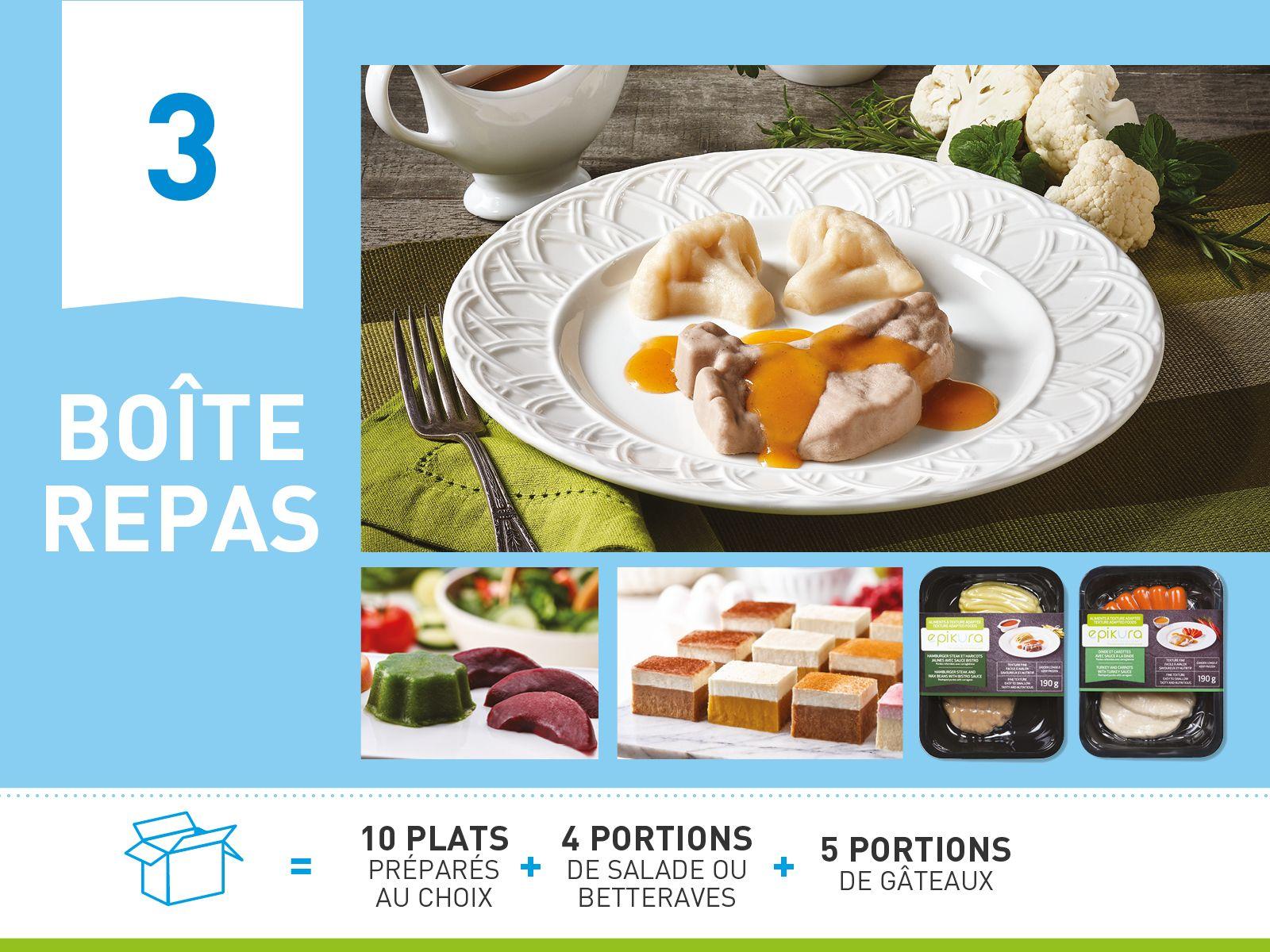 Boîte repas #3  ALIMENTS À TEXTURE ADAPTÉE ET SÉCURITAIRE
