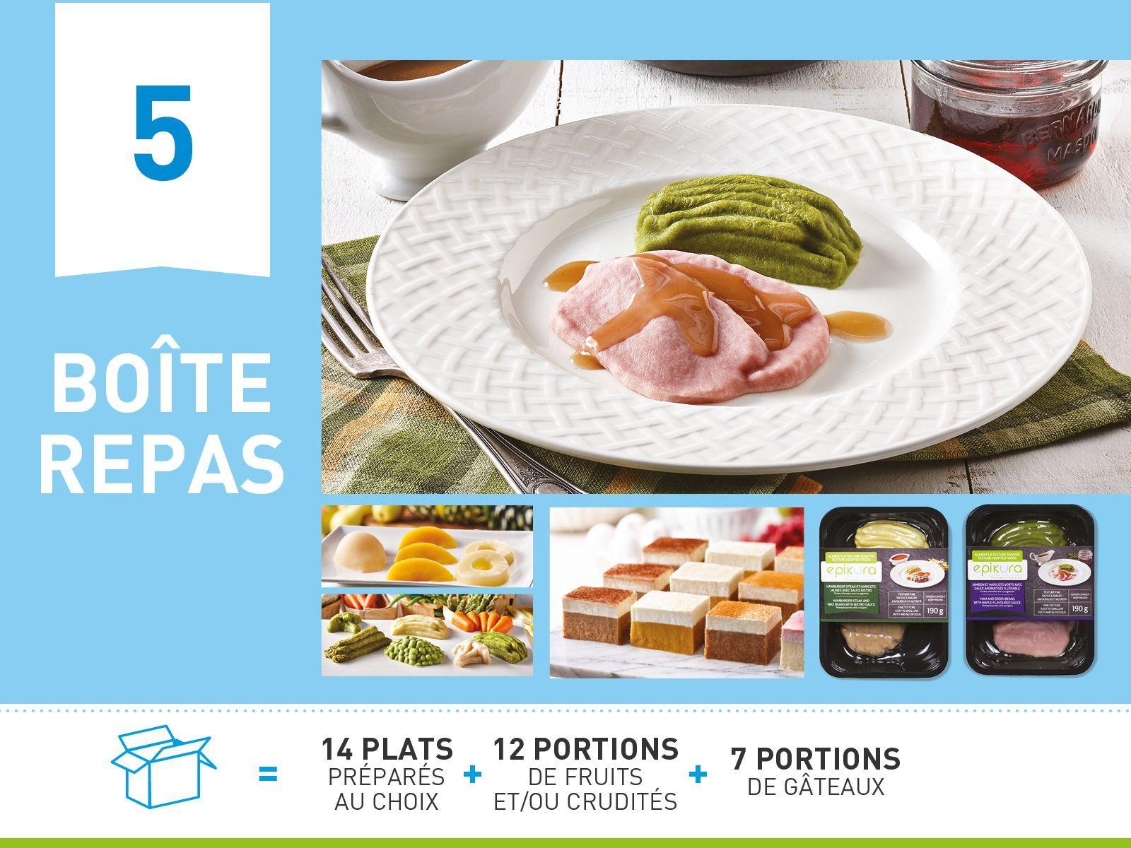 Boîte repas #5  ALIMENTS À TEXTURE ADAPTÉE ET SÉCURITAIRE