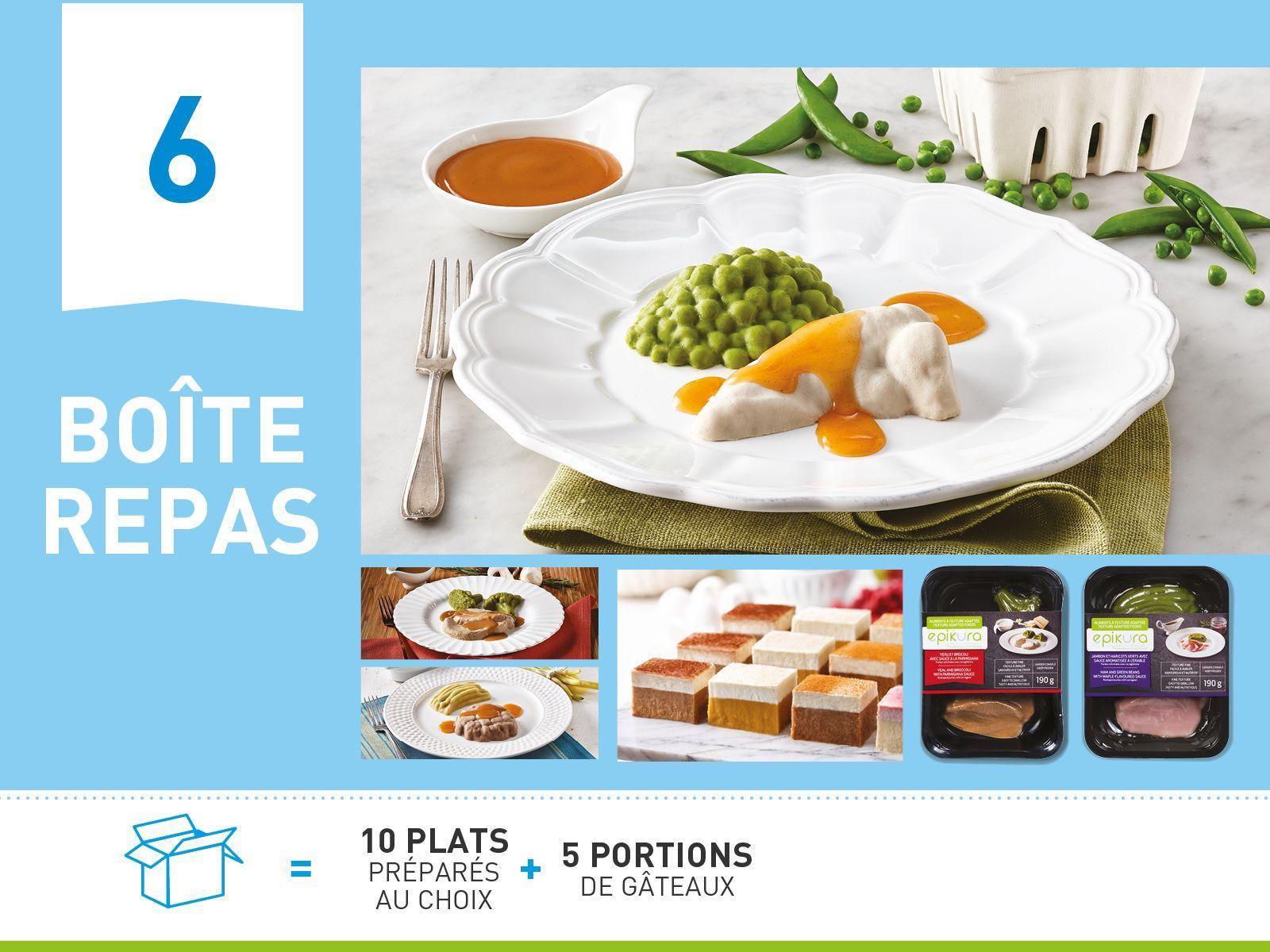 Boîte repas #6  ALIMENTS À TEXTURE ADAPTÉE ET SÉCURITAIRE